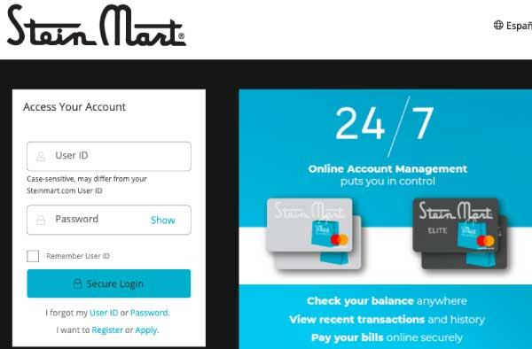 Stein Martin Credit Card Login